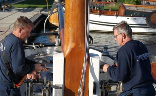 Optuigen van uw boot na winterstalling